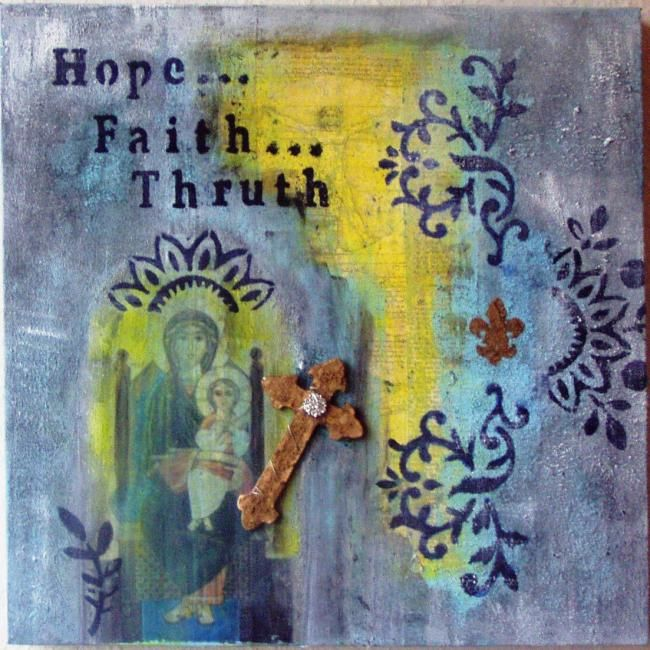"""Painting titled """"Hope..."""" by Mamsula, Original Art, Other"""