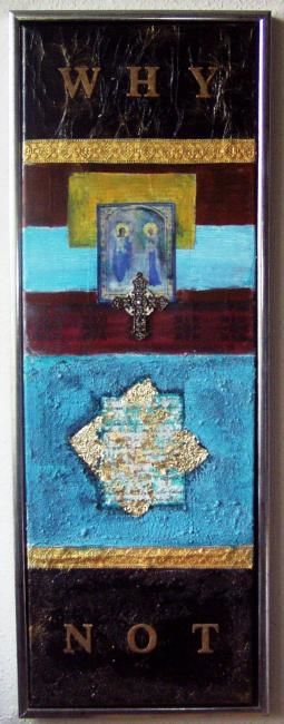 """Painting titled """"WHY NOT"""" by Mamsula, Original Art, Other"""