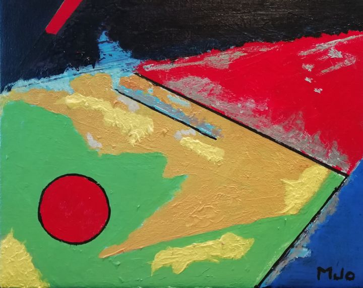 H#artistsupportpledge - Painting,  9.5x11.8x0.6 in, ©2020 by Marie-José Campos -                                                                                                                                                                          Abstract, abstract-570, Abstract Art