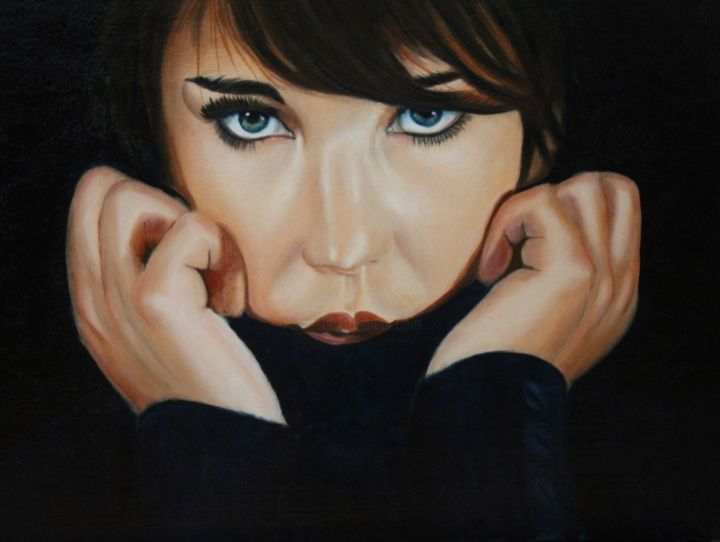 """Painting titled """"Melodie"""" by Manon Germain, Original Art, Oil"""