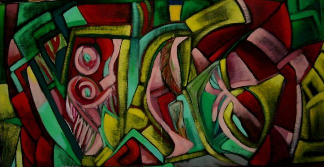12 mai 2010 - Painting,  15.8x31.5 in, ©2010 by Frédérique Manley -