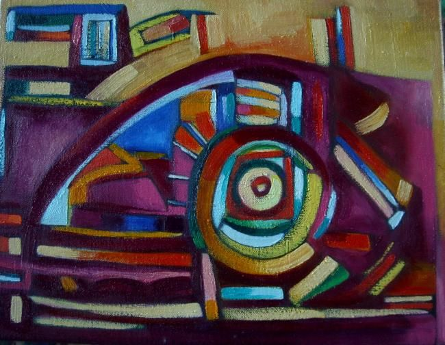 vision2010 - Painting,  27x35 cm ©2010 by Frederique Manley -