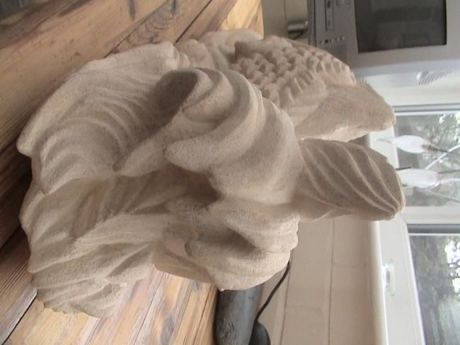 """Sculpture titled """"Ancient Fish"""" by Man Of Stone, Original Art,"""