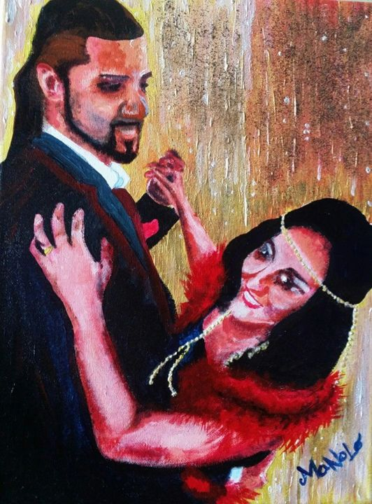 """Painting titled """"provocazione"""" by Manolo, Original Art,"""