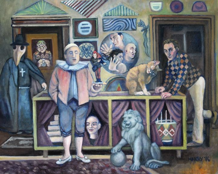 """Painting titled """"The Magic Shop"""" by Douglas Manry, Original Art, Oil"""