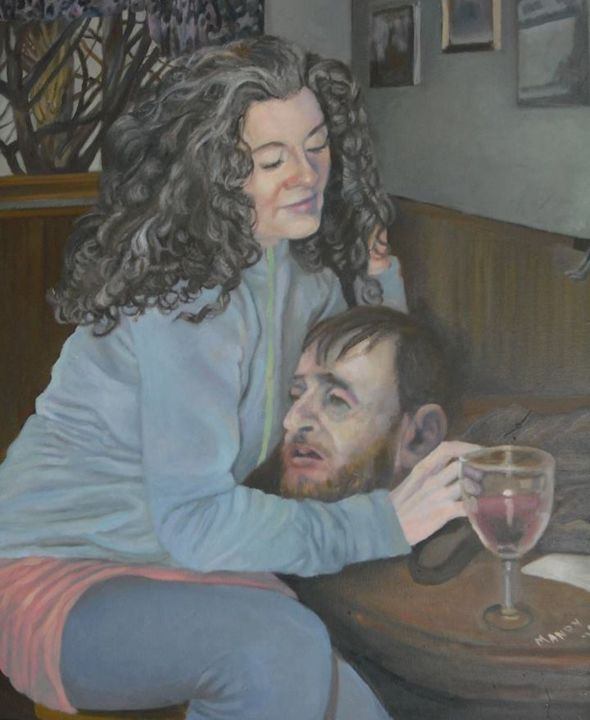 """Painting titled """"Mad Woman"""" by Douglas Manry, Original Art,"""