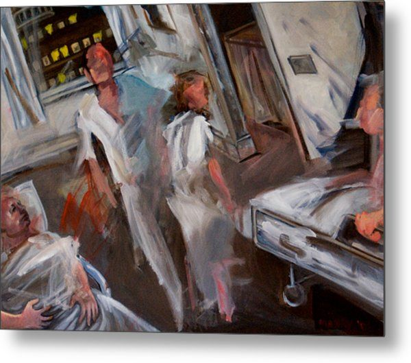 """Painting titled """"The Hospital at 4 am"""" by Douglas Manry, Original Art, Oil"""