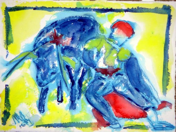 """Painting titled """" CORRIDA  A"""" by Mapie, Original Art,"""
