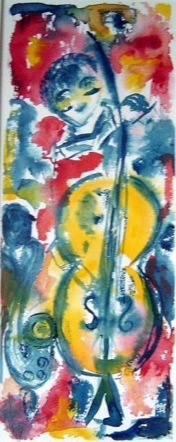 MUSIC JAZZ ALWAYS - Peinture, ©2004 par Mapie -