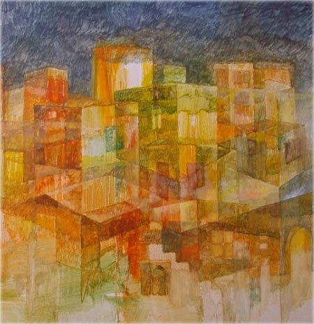 """Painting titled """"abstract"""" by Maqbool Ahmed, Original Art,"""