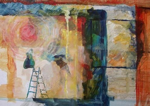 """Painting titled """"abstract 05"""" by Maqbool Ahmed, Original Art,"""