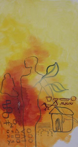"""Painting titled """"abstract 07"""" by Maqbool Ahmed, Original Art,"""