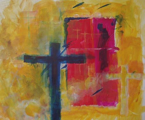 """Painting titled """"abstract 08"""" by Maqbool Ahmed, Original Art,"""