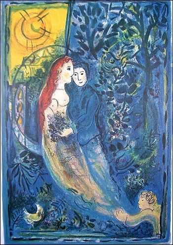 Painting, oil, artwork by Marc Chagall