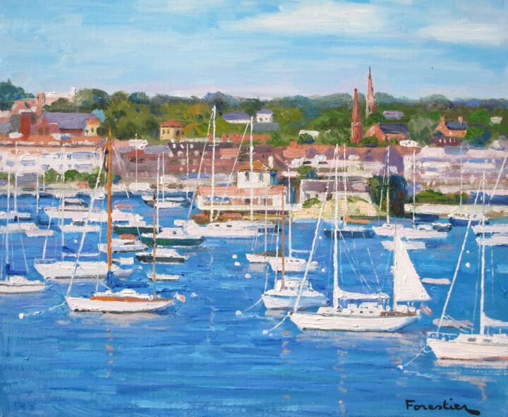 Newport - Painting ©2018 by Marc Forestier -
