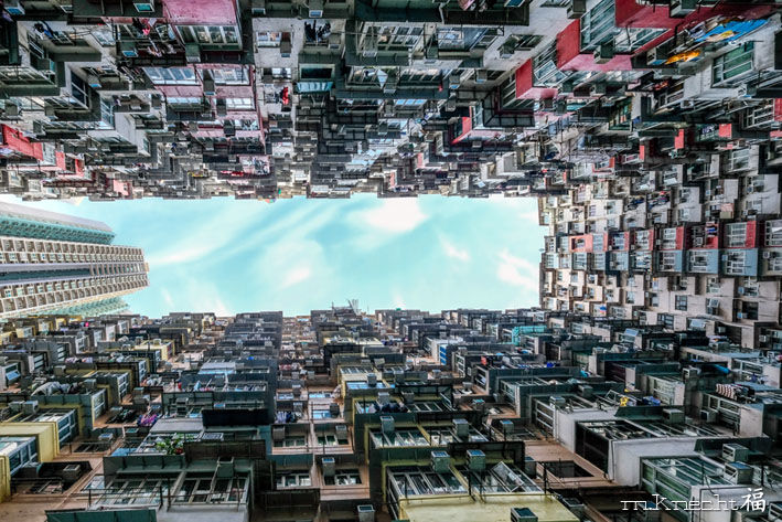 Hong Kong.jpg - Photography,  60x90x3 cm ©2018 by Marc Knecht Photographe -                                                                                    Realism, Aluminum, Paper, Plexyglass, Architecture, Hong Kong, architecture, asie, building, marc Knecht photographe, marc-knecht-photographe.fr, tour