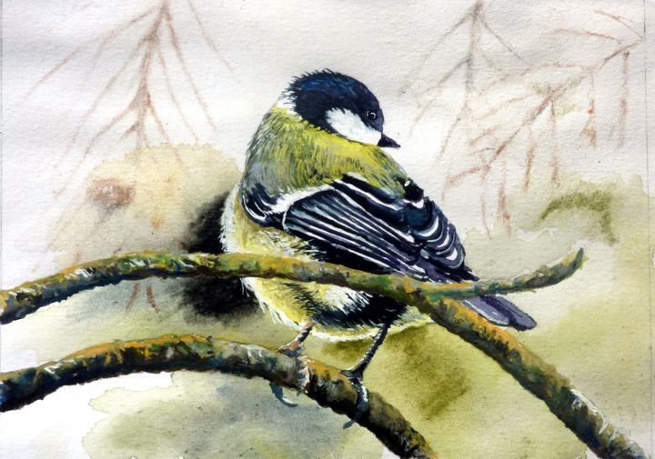 """Painting titled """"18x13-5.jpg"""" by Marc Pfund, Original Art, Watercolor"""