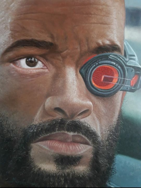 """Painting titled """"Will Smith"""" by Marcelo Lopes, Original Art, Oil"""