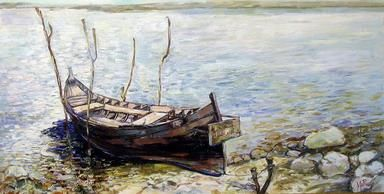 """Painting titled """"BALCHIK - FISHING H…"""" by Marchell Yameliev, Original Art,"""