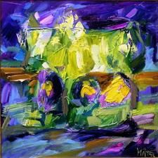 """Painting titled """"Spring"""" by Marchell Yameliev, Original Art,"""