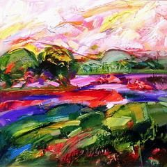 """Painting titled """"Summer"""" by Marchell Yameliev, Original Art,"""
