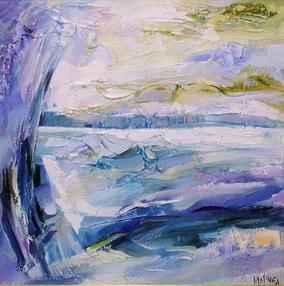 """Painting titled """"Winter"""" by Marchell Yameliev, Original Art,"""