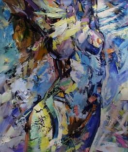 """Painting titled """"Nude II"""" by Marchell Yameliev, Original Art,"""