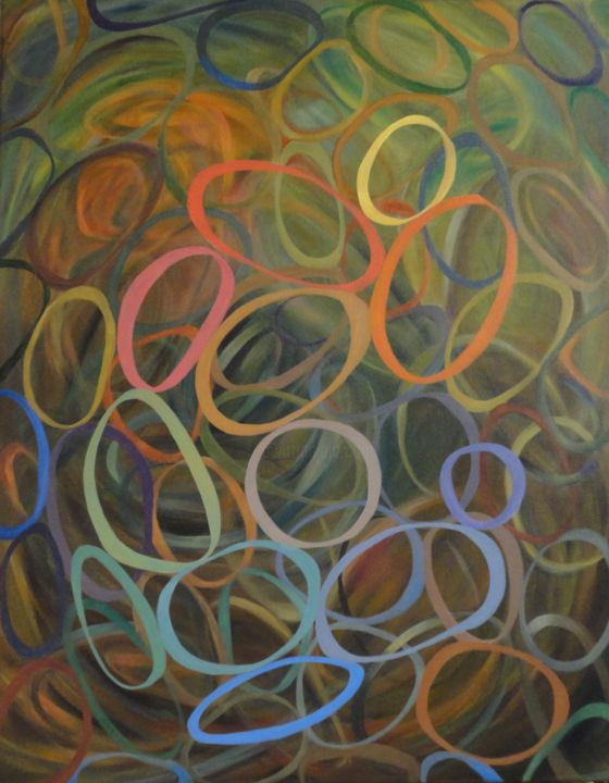 """Painting titled """"Bound Surround"""" by Marcia K. Hales, Original Art, Acrylic"""