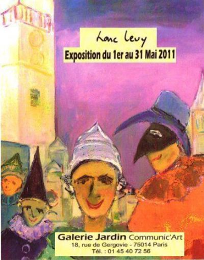 invitation de l exposition - Painting ©2011 by Marc Levy -