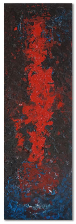 """Painting titled """"ATLANTE 2"""" by Marco Ramassotto, Original Art, Acrylic Mounted on Wood Panel"""