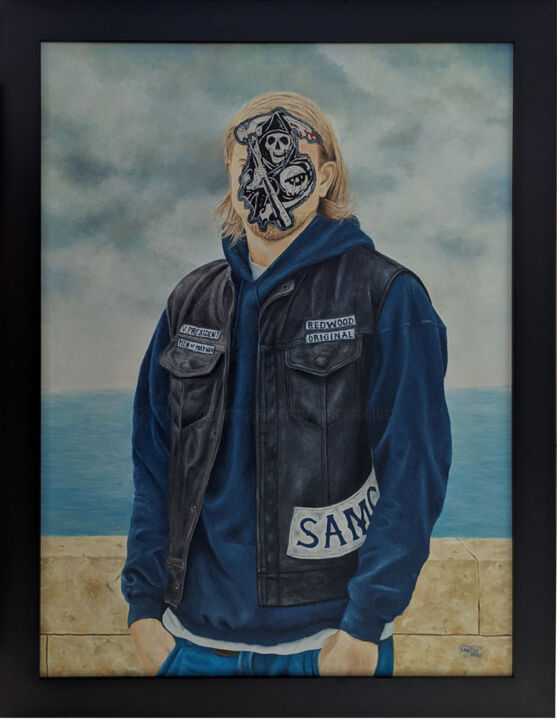"""Painting titled """"The son of anarchy"""" by Marco Santos, Original Art, Oil"""