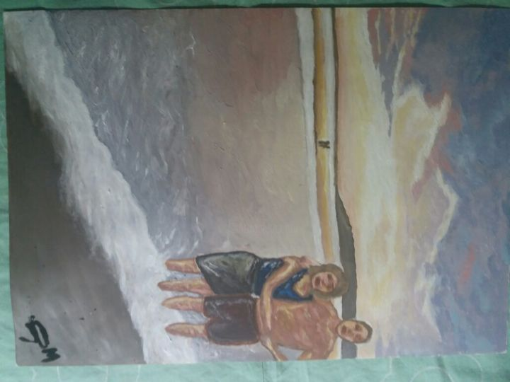 """Painting titled """"Espiagia"""" by Moises, Original Art,"""