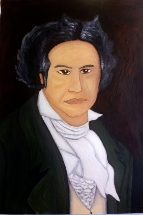 """Painting titled """"Beethoven"""" by Moises, Original Art,"""