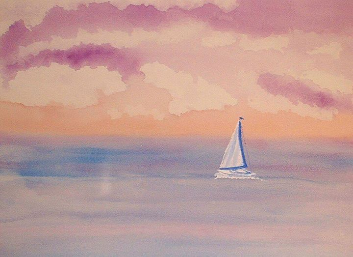 """Painting titled """"Spinniker - Running…"""" by Paul Marco, Original Art, Watercolor"""