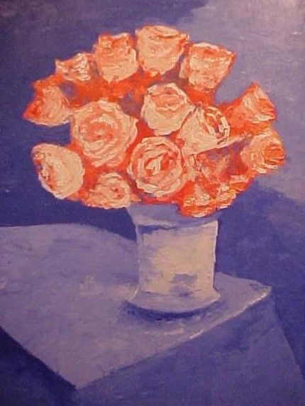 """Painting titled """"Pink Roses"""" by Paul Marco, Original Art, Acrylic"""