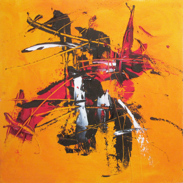 """Painting titled """"Samouraï errant 1"""" by Maryse Lapointe, Original Art, Oil"""