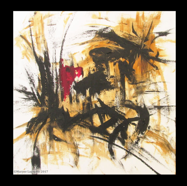 """Painting titled """"Broken Arabesques s…"""" by Maryse Lapointe, Original Art, Oil"""