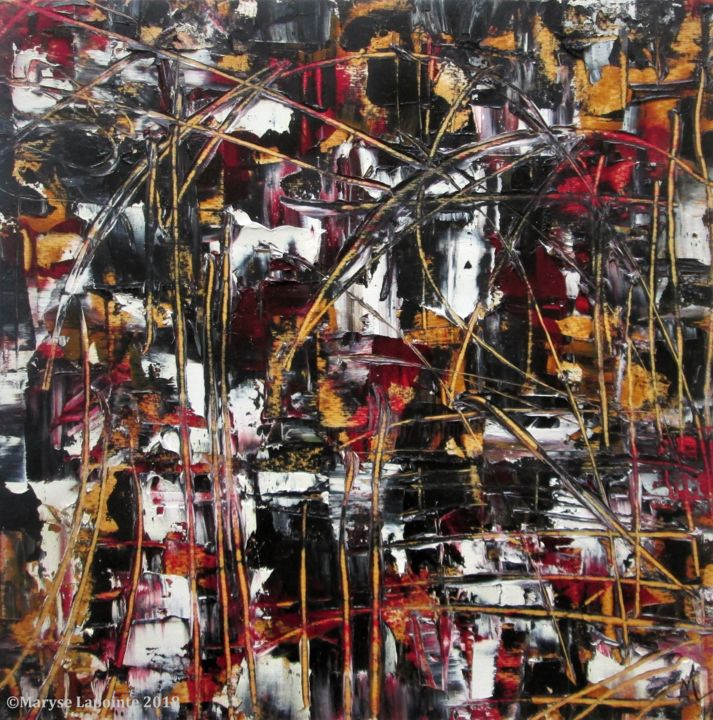 """Painting titled """"Déconstruction 8"""" by Maryse Lapointe, Original Art, Oil"""
