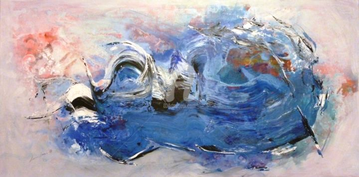 """Painting titled """"Such a Beauty"""" by Maria Bacha, Original Art, Acrylic Mounted on Stretcher frame"""
