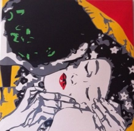 omaggio a klimt - il bacio - Painting,  70x60 cm ©2012 by MariArt -