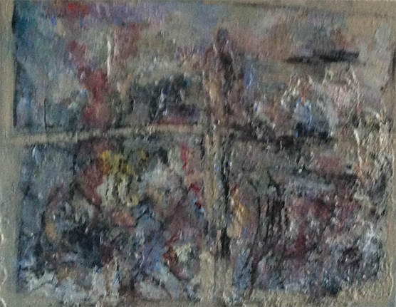 Through The Looking Glass - Painting ©2018 by Maria Emilov Silvestar -                                        Abstract Art, Canvas