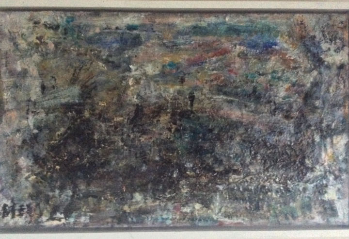 Seascape Painting, oil, abstract, artwork by Maria Emilov