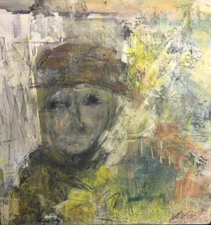 Portrait Painting, oil, abstract, artwork by Maria Emilov