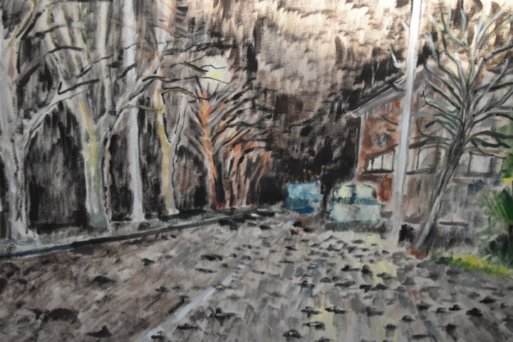 """Painting titled """"uccelli morti a Roma"""" by Ludo, Original Art, Oil"""