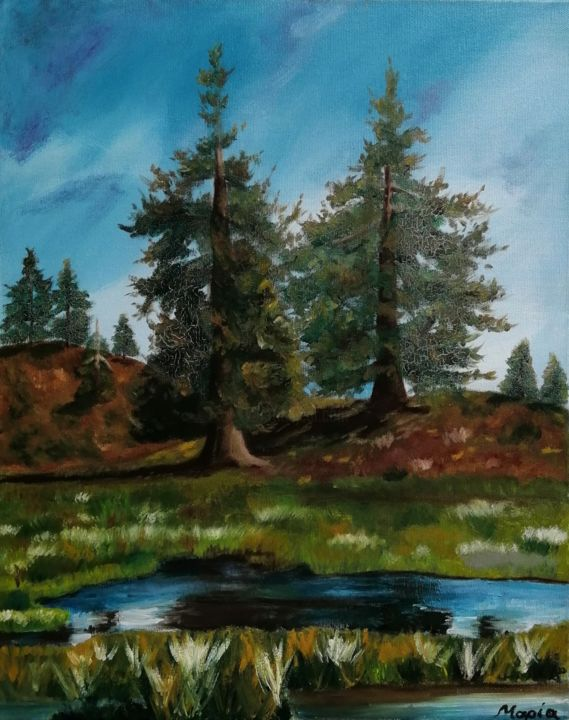 """Painting titled """"Foret"""" by M Mast (MMast), Original Art, Oil"""