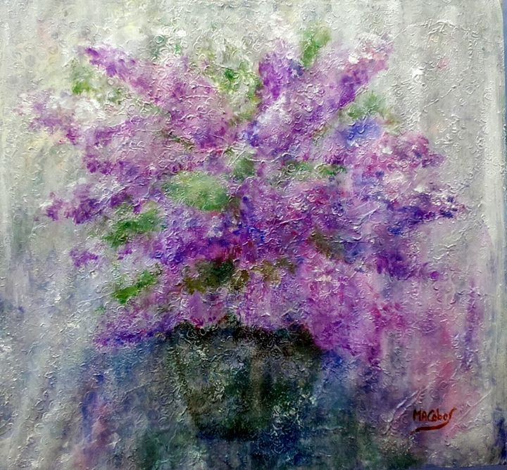 Vivement le printemps - ©  abstrait, fleur, lilas, textures Online Artworks