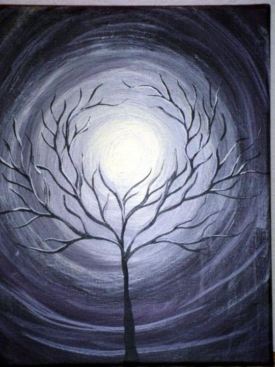"""Painting titled """"Distance"""" by Marianna K, Original Art,"""