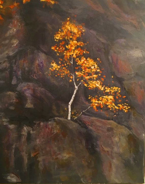 """Painting titled """"Resilience"""" by Marianne Dufour, Original Art, Acrylic"""