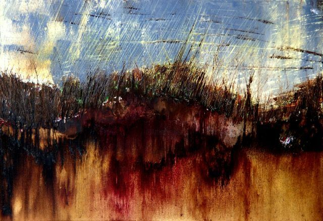 paysage - Painting,  38x55 cm ©2009 by Mpb -