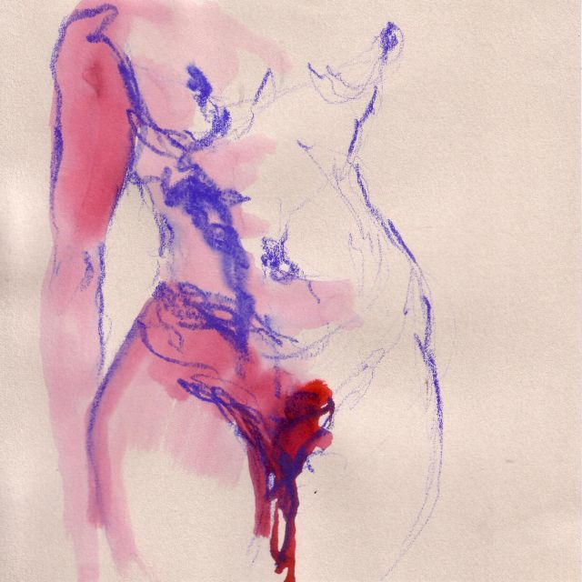 DESSIN 2 - Painting,  20x20 cm ©2010 by Mpb -